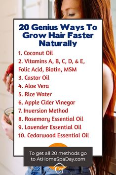 20 Genius Ways To Grow Hair Faster Naturally