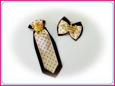 Gravata com laço Louis Vuitton Inspired, disponível nas combinações das fotos acima. (Com fita de cetim para amarrar)