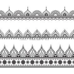 Border Indian elements for card or tattoo.- Border Indian elements for card or tattoo. Vector design illustration isolated o… Border Indian elements for card or tattoo. Vector design illustration isolated on white background. Henna Tattoo Muster, Tattoo Henna, Card Tattoo, Henna Art, Mandala Tattoo, Tattoo Indian, Estilo Mehndi, Finger Tattoo Designs, Henna Tattoo Designs