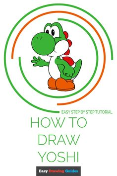 How to Draw Yoshi from Super Mario - Really Easy Drawing Tutorial