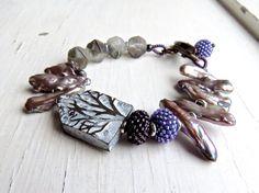 Im Wald - handgemachte Armband, Perlen Armband, Perlen Armband, Winter-Armband, Perlen Schmuck, Perlen Schmuck, Songbead, uk