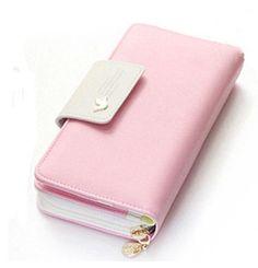 Lady Wallet Womens Large Wallet Fashion Multi-Card Handbag Big-Capacity Hand Bag Mobile Bag Girl Bag LanDream Color : C