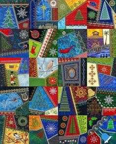 crazy quilt machine embroidery Christian Christmas files