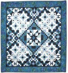 Make Sparkling Monochromatic Quilts in Four Fabrics, One Amazing Quilt