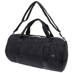 Porter Tanker 2 Way Boston Bag. Product No.:622-06989. Nylon twill, polyester cotton bonding, high-density nylon. Size: W555/φ285. Available in Black, Silver Gray, Khaki