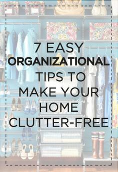 Kick off spring-cleaning with organizational tips to nix the clutter.