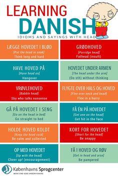 Speak Danish, Danish Words, Danish Language Learning, Danish Christmas, Viking Life, Chinese English, Idioms, Good To Know, Teaching