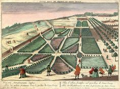 Avenue of Fruit Trees in the Pleasure Garden at Sanssouci (after Copperplate engraving by Georg Balthasar Probst after The Pleasure Garden, Berlin, Frederick The Great, Museum, Fruit Trees, City Photo, History, Outdoor, Potsdam