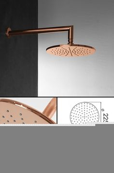 UK suppliers of copper bathroom taps and fixed copper plated fixed shower heads in the latest European styling. Exclusive and unique design choice. Copper Shower Head, Gold Shower, Fixed Shower Head, Copper Bathroom, Bathroom Fixtures, Bathroom Inspiration, Interior Inspiration, Copper And Marble, Copper Taps