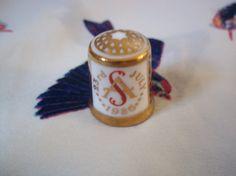 Royal Crown Derby Thimble Commemorating Royal Wedding by SewsAttic, £1.49
