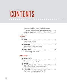 Clean, modern table of contents - The Book | Content Strategy for the Web