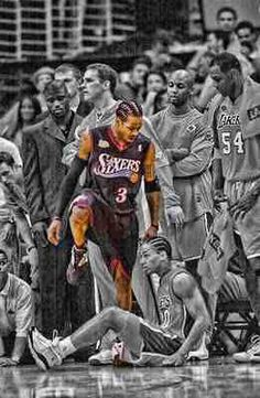 Classic Allen Iverson with the stepback jumper on Tyrone Lue then steps over him! get chills every time i see this Classic Allen Iverson with the stepback jumper on Tyrone Lue then steps over him! get chills every time i see this Sport Basketball, Basketball Quotes, Nba Sports, Basketball Pictures, Basketball Shirts, Basketball Legends, College Basketball, Basketball Players, Basketball Motivation