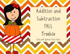 FREE Interactive addition and subtraction practice using dice and spinners! Students can work individually or in pairs to practice 2-digit, 3-digit, or 4-digit addition and subtraction while enjoying a FALL theme!