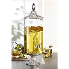 Glass Beverage Dispenser Decorative Stand
