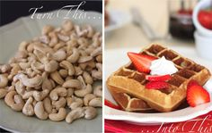 Turn plain old cashews into delectable fluffy waffles!