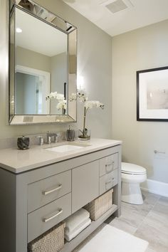 Minnetonka New Construction - by Vivid Interior and Hendel Homes #shower #bathroom #tile #vanity