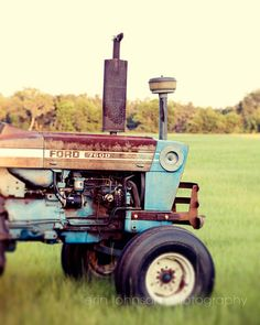 farm photography vintage Ford tractor photograph by eireanneilis, $25.00