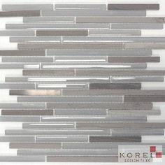 """Glass Tiles :: GREY HAISA Metro Glass """"NEW"""" - Korel's Design Tile Store"""