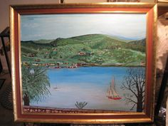 Beautiful Big Painting Of Lake Campout by Daysgonebytreasures, $85.00