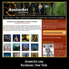 My Web Designs: AvatarArt.com 2014. Complete website Redesign and software updates. Rochester, NY. http://www.avatarart.com/
