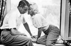 Joe DiMaggio & Marilyn Monroe in their first official photos together, '53.