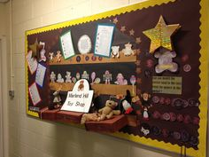 Old toy shop style history and money class display. Linked to Year 1 history unit