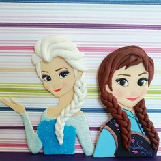 Elsa frozen fondant cake topper