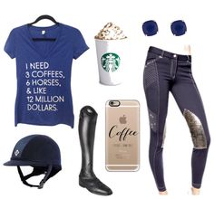 To celebrate #nationalcoffeeday we have a #coffee #rootd With everything you need! @20x60 I Need Tee Charles Owen Helmet Parlanti Passion #pumpkinspicelatte Kate Spade Earrings @ghodho Breeches