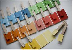 Treinar combinação de cores  (Peça em qualquer loja de tinta esses monstruários)