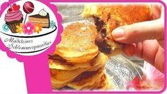 Gefüllte Pan Cakes mit Nougat-Nuss Creme - Rezept von Madeleines Schlemmerparadies Nuss Nougat Creme, Pancakes, Breakfast, Food, Madeleine, Strawberry Slush, Food Food, Backen, Meal