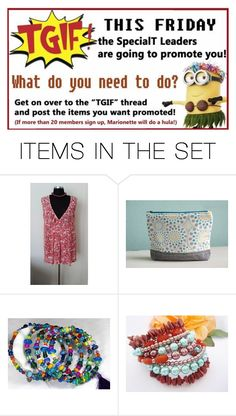 """""""TGIF #Etsyspecialt"""" by rescuedofferings ❤ liked on Polyvore featuring art, EtsySpecialT, SpecialTweek and specialTGIF"""