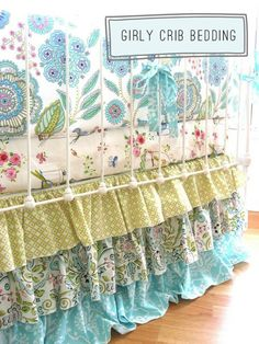 LOVE this bedskirt idea!  Perhaps when Bristol is ready for her big-girl bed?  Haha, I know that's not for awhile :)