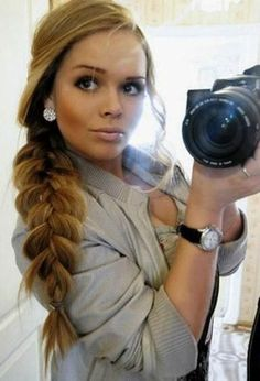 chunky braid. I have to try this sometime!!  It is super cute!!  ♥♥