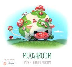 Daily Paint 1557. Mooshroom by Cryptid-Creations.deviantart.com on @DeviantArt