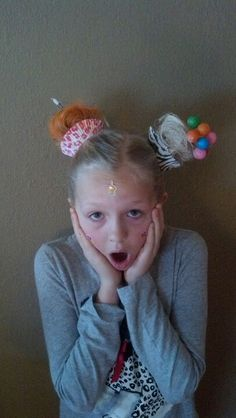 Maddie had crazy hair day at school and this is what we came up with!