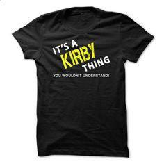 It is a KIRBY Thing tee - #softball shirt #tshirt logo. BUY NOW => https://www.sunfrog.com/No-Category/It-is-a-KIRBY-Thing-tee-Black.html?68278