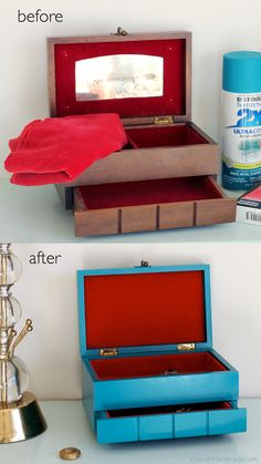 DIY: Revamp an old jewelry box