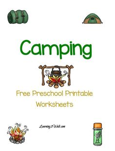 Looking for a for a fun free camping preschool printable worksheets ? Try these free preschool printable worksheets that is dedicated to camping Free Printable Math Worksheets, Reading Worksheets, Preschool Printables, Free Preschool, Preschool Lessons, Preschool Activities, Preschool Camping Crafts, Preschool Learning, Educational Activities