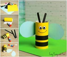 You'll love these fun and functional toilet paper roll crafts - because why not upcycle them and get something new? These cardboard tube crafts are totally unique and easy to make. Cardboard Tube Crafts, Toilet Paper Roll Crafts, Diy Paper, Paper Crafting, Bee Crafts For Kids, Summer Crafts, Toddler Crafts, Diy For Kids, Preschool Crafts