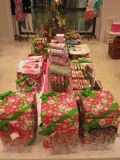 A rare scene from Santa's workshop; presents for Lilly-lovers all over the world #LillyHoliday