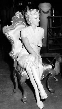 on the set of There's No Business Like Show Business, 1954