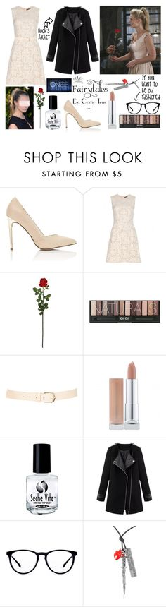 """""""OUAT ~ Hook and Emma's First Date"""" by fangirl-0606 ❤ liked on Polyvore featuring Miss Selfridge, Alexander McQueen, Laura Cole, Maison Boinet, Seche and Once Upon a Time"""