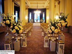 Wedding ceremony setup at The Balmoral Hotel, Edinburgh. @The_Balmoral