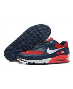 Nike Air Max 90 Mens Hyperfuse Prm Blue Red Trainer