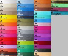 Gurtband, 12 Meter, 40mm breit in 45 Farben braun 33 schwarz 44