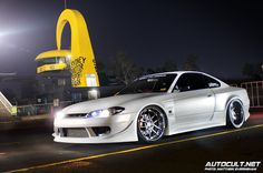 Dale's White Knight Widebody S15. Pure Sex.