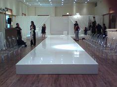 Glossy and glamourous vinyl runway