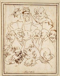 Pier Francesco Mola | Treize caricatures | Images d'Art