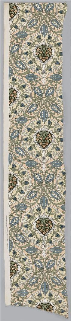 Rosebud design by John Henry Dearle (British, 1860–1932) from the workshop of Morris & Co. Designed ca.1905 and printed before 1918. Cotton