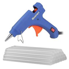 Blusmart Mini Hot Glue Gun with 25 Pieces Melt Glue Sticks 20 Watts Blue High Temperature Glue Gun for DIY Craft Projects and Repair Kit *** You can find more details by visiting the image link. Diy Craft Projects, Crafts For Kids, Craft Tutorials, Sewing Projects, Glue Crafts, Diy Crafts, Diy Ugly Christmas Sweater, Christmas Diy, Christmas Ornaments